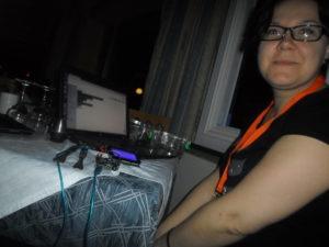 Arduino avec participante de Latvia